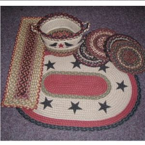Braided Rugs, Table Accessories and Baskets