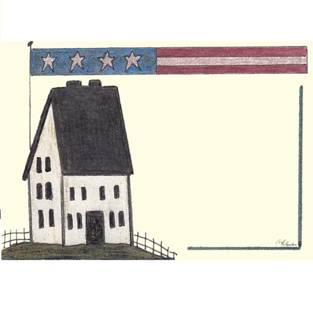 House Long Flag Notepad - Liberty Bell